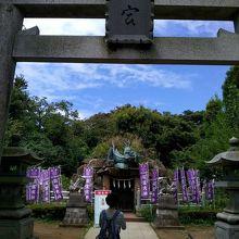 江島神社・奥津宮の更に奥にある神社です!!