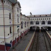 雄大なシベリア鉄道の東の果て。駅であり記念館でもあり。
