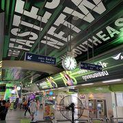 通勤客の乗換駅