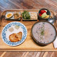 台湾式の朝食。少し癖がありました。洋食の方が無難かも。