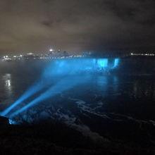 ナイアガラの滝、ライトアップ