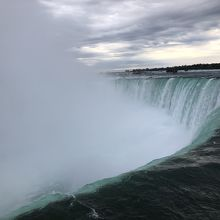 カナダ滝滝口と滝壺から上がってくる水煙