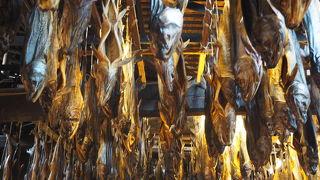 鮭の塩干の景観は圧巻