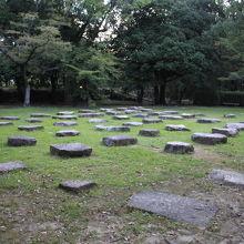 広島城 旧天守閣の礎石
