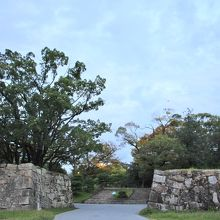 広島城 裏御門跡