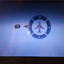 ドバイ→ラルナカ線では、メッカの方角もモニターに出てきました
