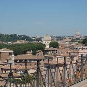 ローマ市内が見渡せる