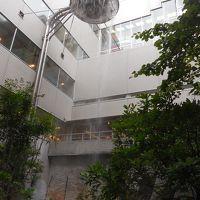 中庭の人工滝