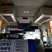 6021番リムジンバスで金浦空港から明洞へ