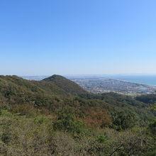 湘南平からの相模湾の眺め