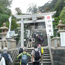 浦賀湾を挟んで東叶神社とペアになっている神社