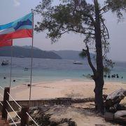 小さな島にサンゴと熱帯魚がいっぱい!!