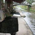 川沿いにある混浴
