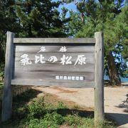 日本海に抱かれた日本三大松原