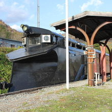 南大夕張駅跡に車両が保存されています