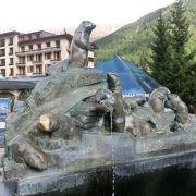 可愛いマーモットの泉