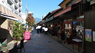 観光向けの風情ある街並み