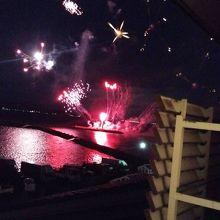夏の北びわ湖大花火大会が部屋から楽しめます。