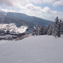 温泉宿とスキー場