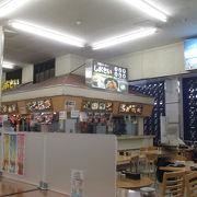 食堂、売店とも朝早くからやっていました。