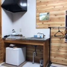 全室冷蔵庫、簡単なキッチンあり