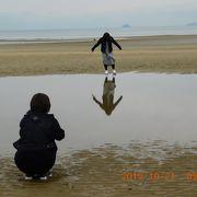 父母ヶ浜海水浴場 見事な景色(潮だまり)