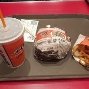 本格的なハンバーガー