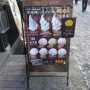 宝牧場のソフトクリームが美味しい
