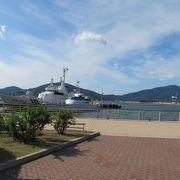 敦賀港の目の前に広がる海浜公園