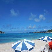 慶良間ブルーに魅せられる海水浴場