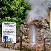 間欠泉が圧巻!一定の間隔で吹き出す熱湯がすごい。