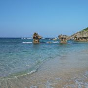 美しい天然のビーチ