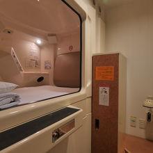 個室カプセルは、寝るだけの利用にピッタリ。