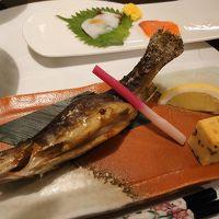 夕食 十和田湖産岩魚塩焼き