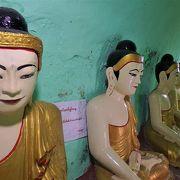 ミャンマー唯一の女王、シンソーブの像が展示
