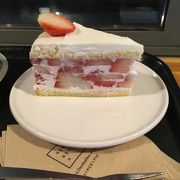 苺たっぷりケーキ!