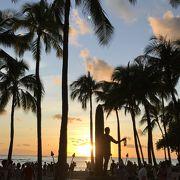 ハワイ入りを実感出来る場所