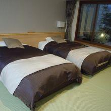 広くてきれいな和洋室