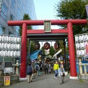 普段は、閑散としている神社ですが、酉の市の日は混雑しています