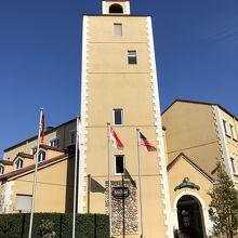 南欧風おしゃれな建物。