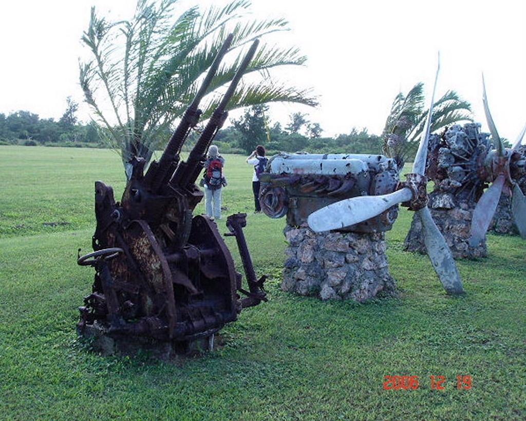 旧日本軍の対空機銃やエンジンが展示されていました。