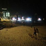夜の海雲台びーちは、賑やかだった