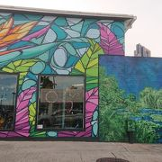 建物の絵画 が大変有名な地区