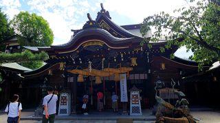 飾り山笠が見れる神社
