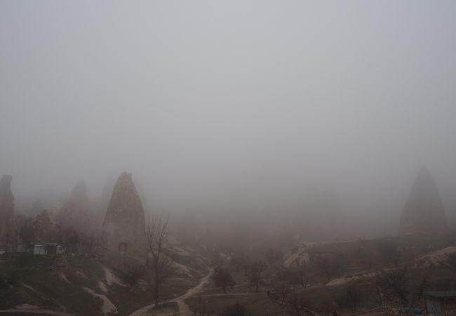 霧がかると見えない