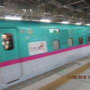 新幹線は3階のホームから発着です