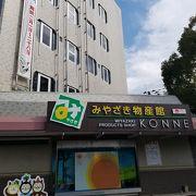 宮崎県庁近くの土産物店