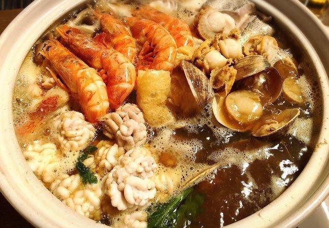 美味しい海鮮が食べれます