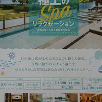 東京湾を一望できる露天風呂。撮影禁止ですのでパンフをコピー
