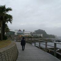 ホテルの海側にあるボードウオーク。海の散歩道